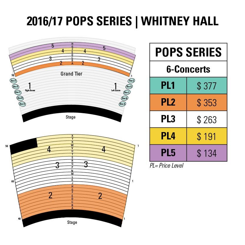 Pops Seatingprice Map The Louisville Orchestra
